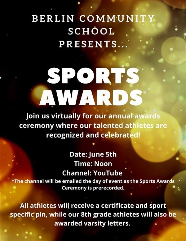 BCS Virtual Sports Awards Ceremony - Friday, June 5th